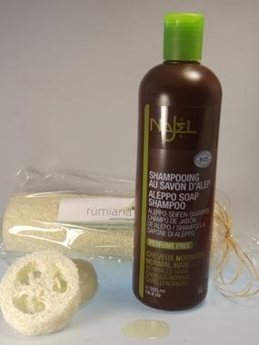 Shampoo mit Alepposeife
