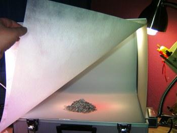 Textiler Schutz gegen Spiegelungen auf Motiv