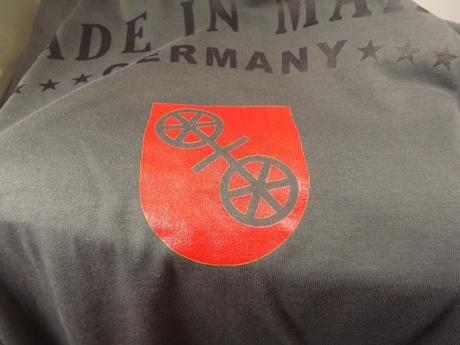 Stadtwappen meines Fußball-Vereins auf dem Shirt