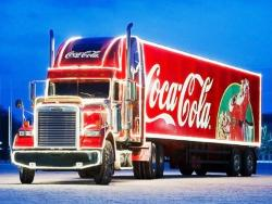 Coca-Cola Weihnachtstrucks on Tour