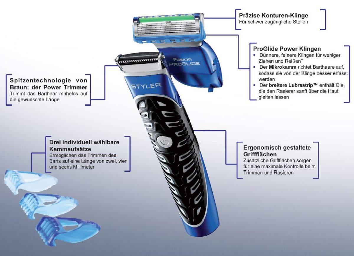Aufbau Rasierer Gillette Styler