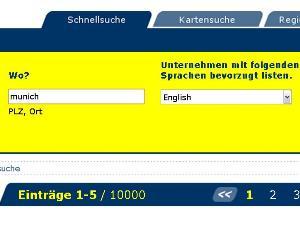 Eingabe in diversen Sprachen möglich