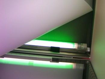 Zusätzliche Leuchte für Hintergrundbeleuchtung oder Untergrundbeleuchtung