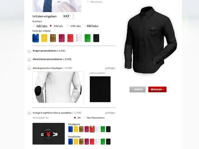 Letzte Personalisierung des Hemdes