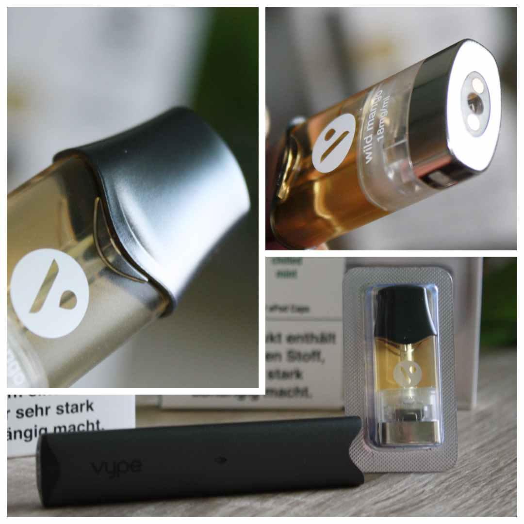 Detailaufnahmen von Vype ePod und Caps Details