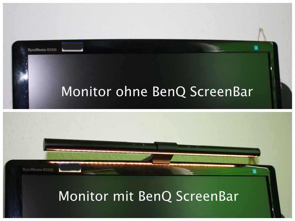 aufsetzbare Monitorlampe BenQ ScreenBar