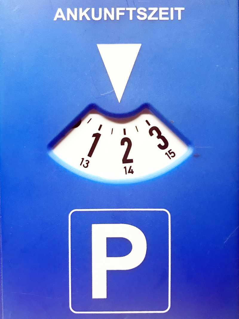 Strafzettel wegen Parken ohne Parkscheibe