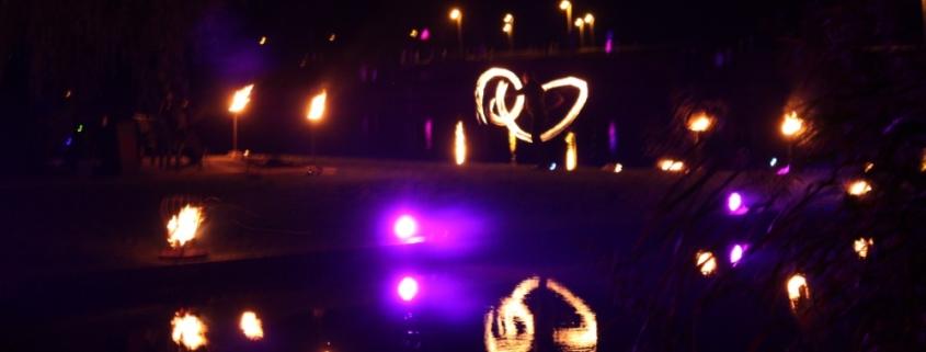Feuerkünstler bei Feuerperformance in Demmin (MV)